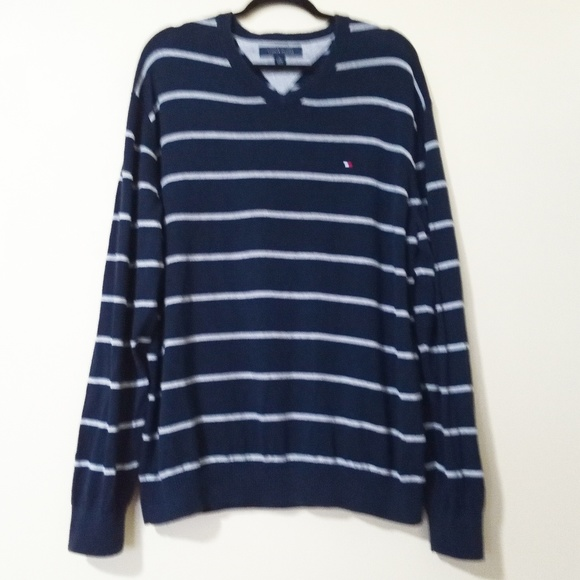 Tommy Hilfiger Other - Tommy Hilfiger V-Neck Long Sleeve Striped Sweater